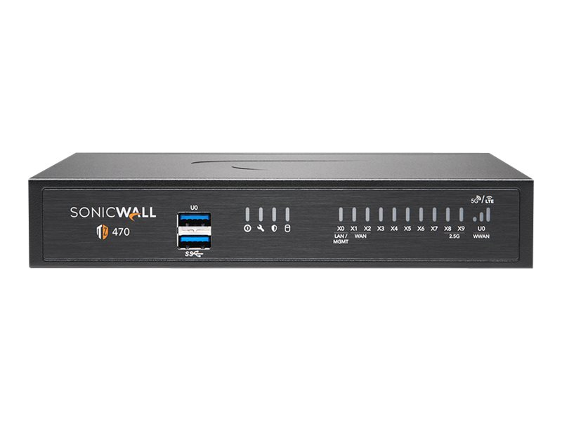 SonicWall TZ470 - Advanced Edition - Sicherheitsgerät - GigE, 2.5 GigE - onicWALL Secure Upgrade Plus Programm (2 Jahre Option)
