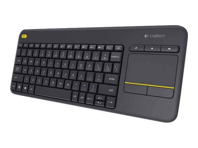 Logitech Wireless Touch Keyboard K400 Plus - Tastatur - kabellos - 2.4 GHz - Deutsch - Schwarz