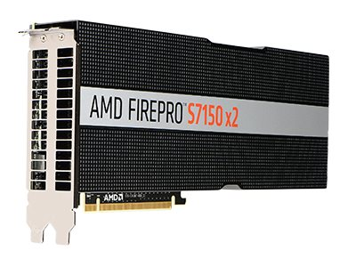 AMD FirePro S7150 x2 - Grafikkarten - FirePro S7150 x2 - 16 GB GDDR5 - ohne Lüfter - für EMC PowerEdge R740xd; PowerEdge R730