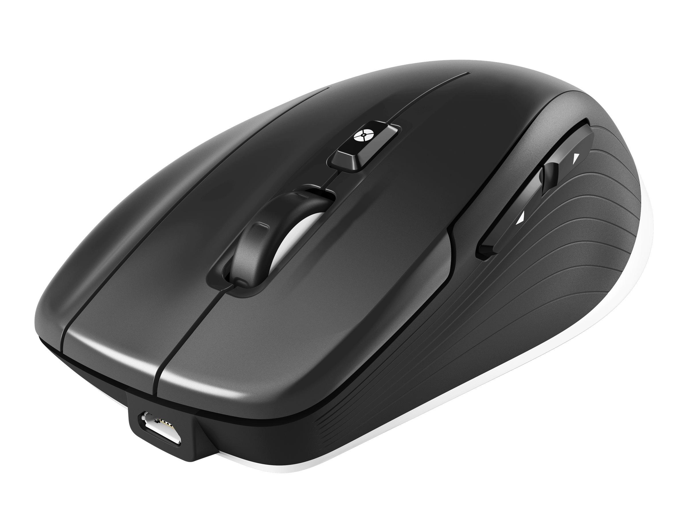 3Dconnexion CadMouse Wireless - Maus - Für Rechtshänder - optisch - 7 Tasten - kabellos, kabelgebunden