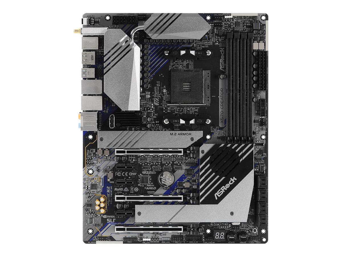 ASRock X570 Creator - Motherboard - ATX - Socket AM4 - AMD X570 - USB-C Gen2, USB 3.2 Gen 1