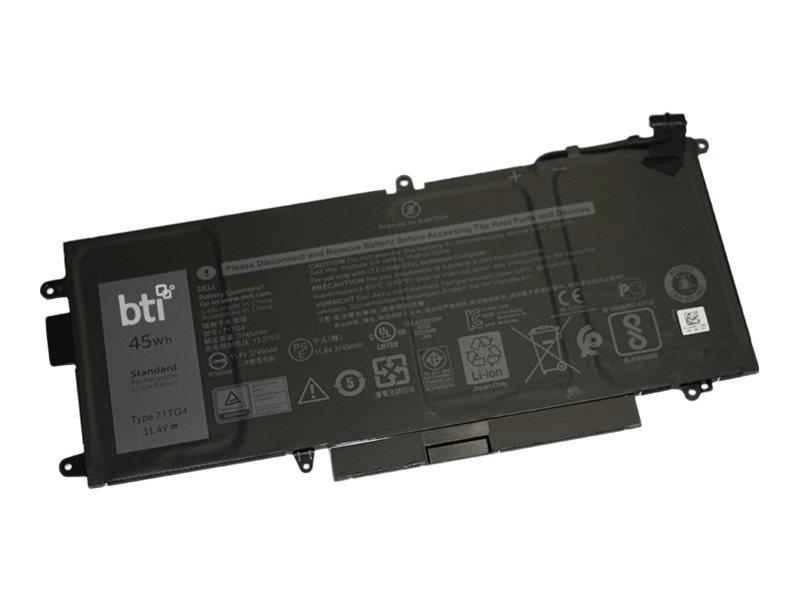 BTI - Laptop-Batterie (gleichwertig mit: Dell 71TG4, Dell CFX97, Dell X49C1) - 1 x Lithium-Ionen 3 Zellen 3745 mAh 45 Wh - für D
