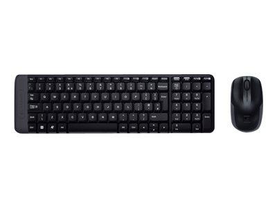 Logitech Wireless Combo MK220 - Tastatur-und-Maus-Set - kabellos - 2.4 GHz - Griechisch