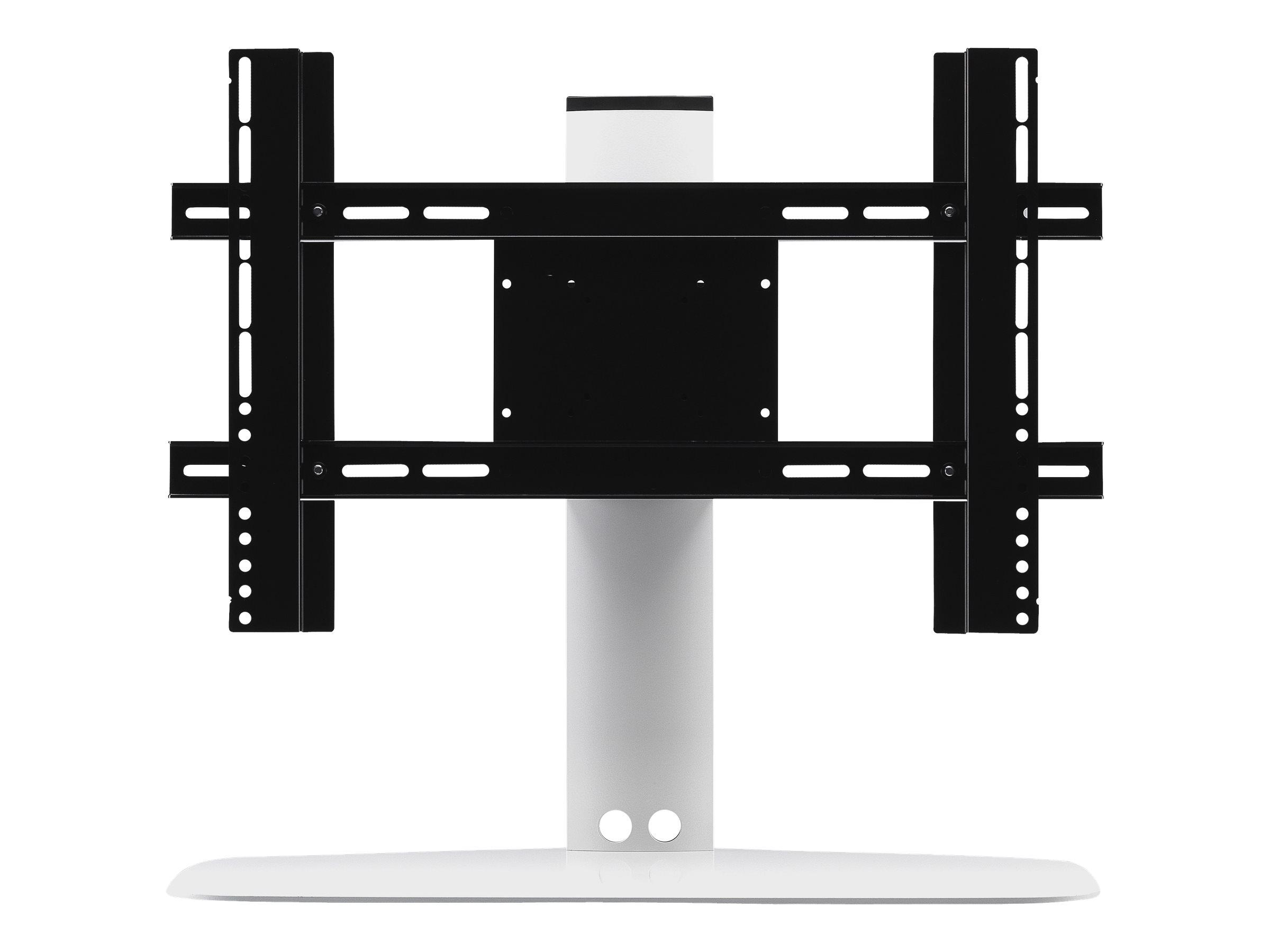 Flexson - Aufstellung für LCD TV - stranggepresstes Aluminium, Edelstahl - weiss - Bildschirmgrösse: bis zu 165,1 cm (bis zu 65