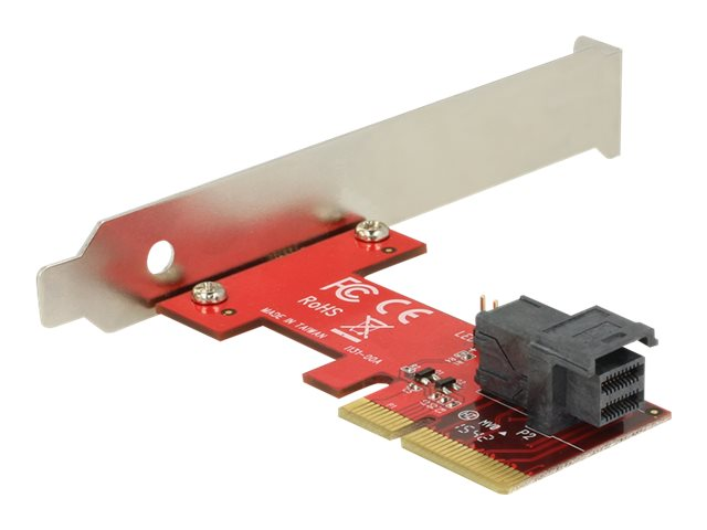 DeLOCK PCI Express x4 Card > 1 x internal SFF-8643 NVMe - Speicher-Controller (U.2) - M.2 Card Low Profile - 12 GBps - PCIe 3.0