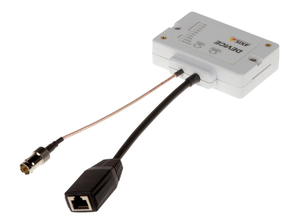 AXIS T8643 PoE+ over Coax Compact - Medienkonverter - 100Mb LAN - 10Base-T, 100Base-TX - RJ-45 / BNC