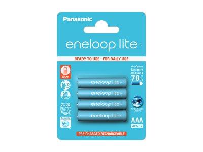 Panasonic eneloop lite BK-4LCCE/4BE - Batterie 4 x AAA - NiMH - (wiederaufladbar) - 550 mAh