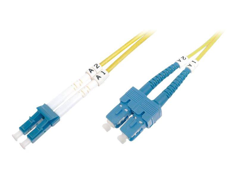 DIGITUS Professional - Patch-Kabel - SC/APC Einzelmodus (M) bis LC/UPC Einzelmodus (M) - 3 m - Glasfaser - 9/125 Mikrometer
