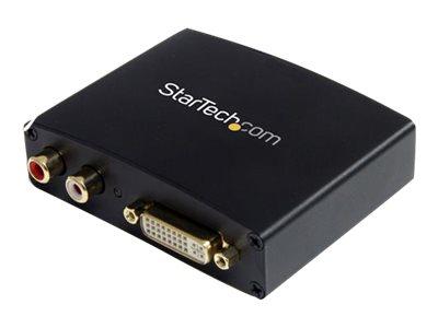 StarTech.com DVI auf HDMI Konverter mit Audio und bis zu 1920x1080 - DVI-I (Buchse) nach HDMI(Buchse) Wandler mit RCA Audio (Buc