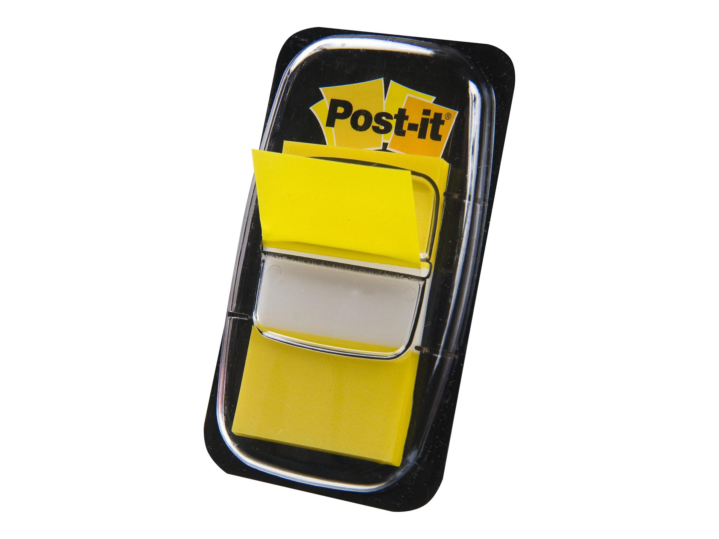 Post-it 680-5 - Index-Streifen mit Spender - 25.4 x 43.2 mm - 50 Blatt - Gelb