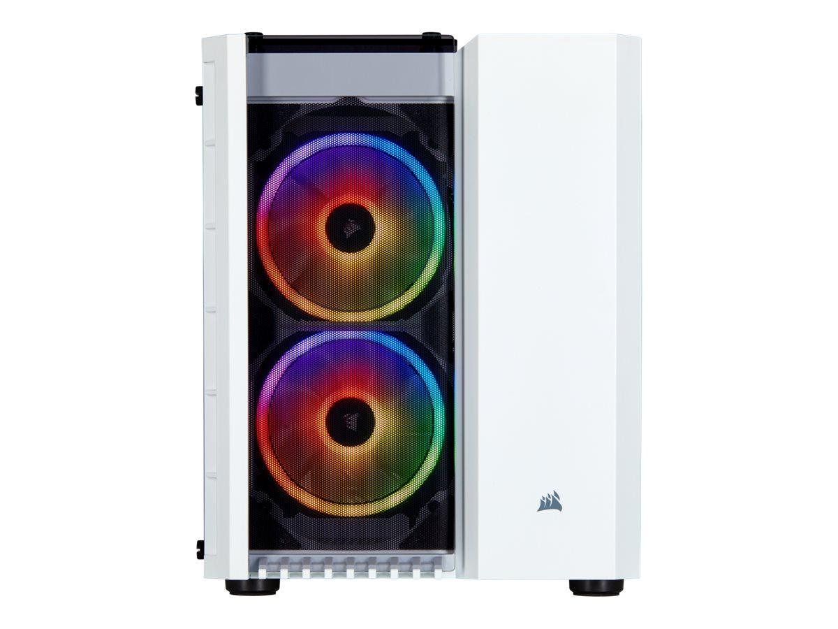 CORSAIR Crystal Series 280X RGB - Tower - micro ATX - ohne Netzteil (ATX) - weiss - USB/Audio