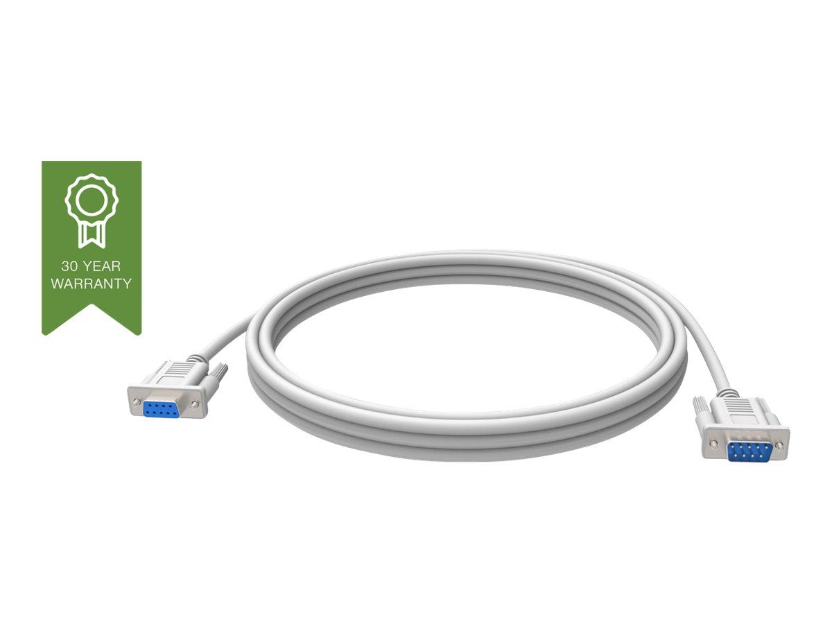 Vision Techconnect - Serielles Verlängerungskabel - DB-9 (W) bis DB-9 (M) - 2 m - weiss