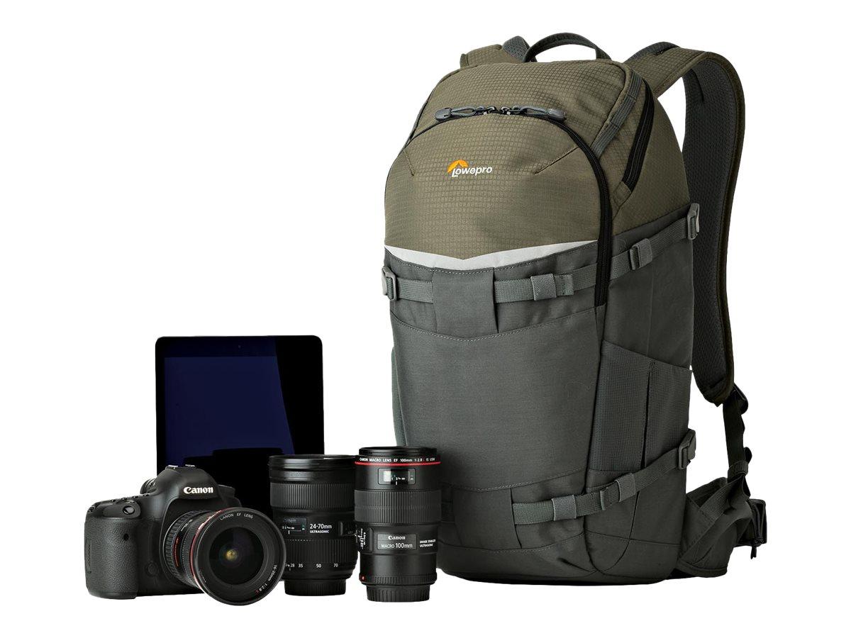 Lowepro Flipside Trek BP 350 AW - Rucksack für Digitalkamera mit Objektiven - Grau, Dunkelgrün