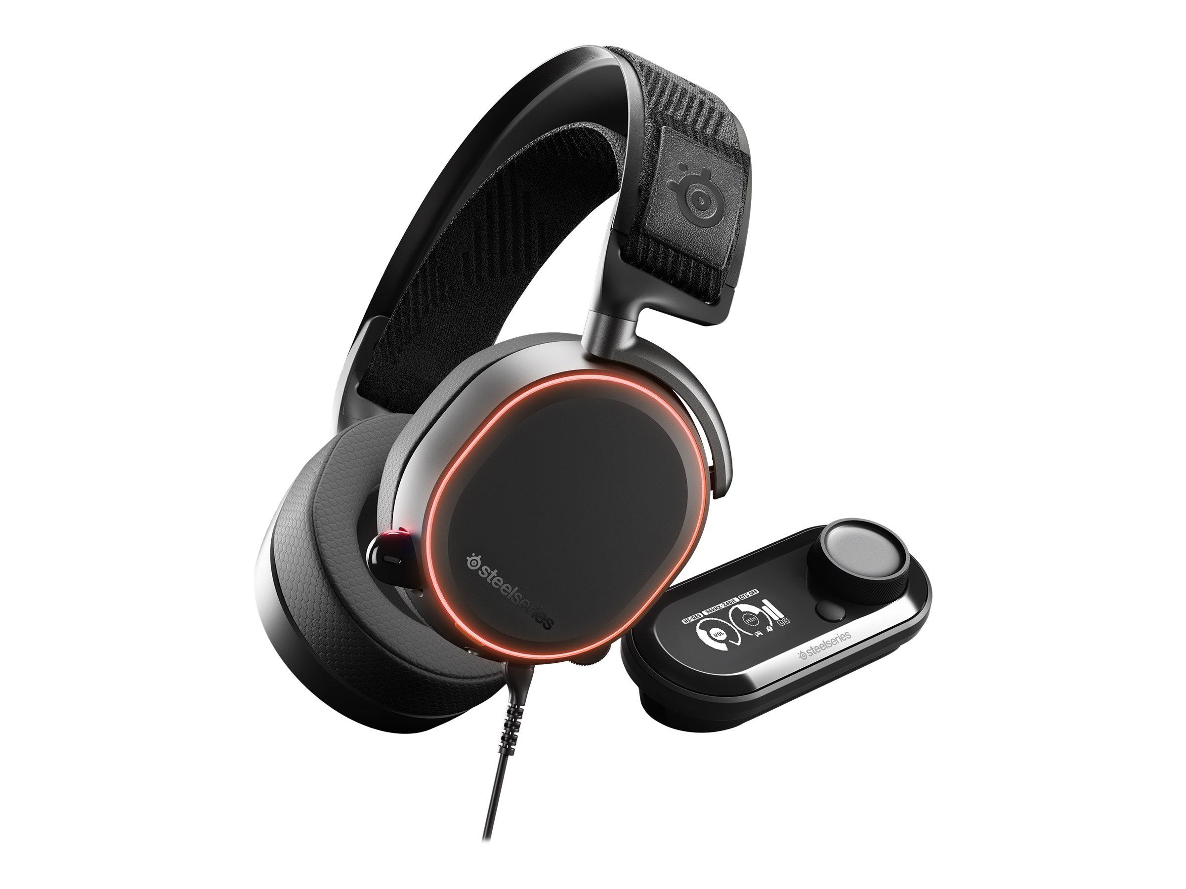 SteelSeries Arctis Pro - Headset - Full-Size - kabelgebunden - USB, 3,5 mm Stecker - weiss