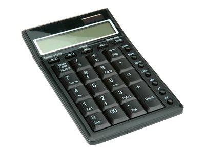 ROLINE - Taschenrechner / Tastenfeld - USB - Solarpanel, Batterie - Schwarz