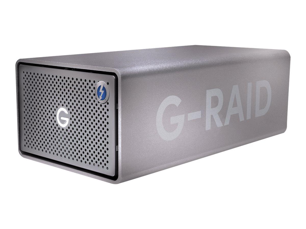 SanDisk Professional G-RAID 2 - Festplatten-Array - 24 TB - 2 Schächte - HDD 12 TB x 2 - Thunderbolt 3, USB 3.1 Gen 2 (extern)