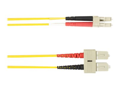 Black Box - Patch-Kabel - SC multi-mode (M) bis LC Multi-Mode (M) - 1 m - Glasfaser - Gelb