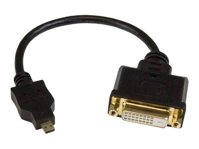 StarTech.com 20cm Micro HDMI auf DVI-D Adapter - St/Bu - Micro HDMI zu DVI Konverter Kabel - Videoanschluss - HDMI / DVI - DVI-D