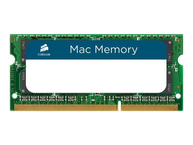 CORSAIR Mac Memory - DDR3 - 16 GB: 2 x 8 GB - SO DIMM 204-PIN - 1333 MHz / PC3-10600 - CL9