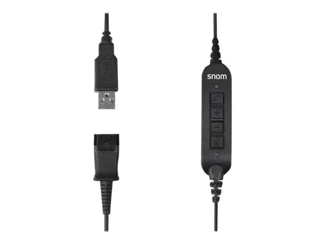 snom - Headset-Kabel - USB (M) bis Headsetanschluss - 1.7 m - 4-Tasten-Fernsteuerung - für snom A100D, A100M