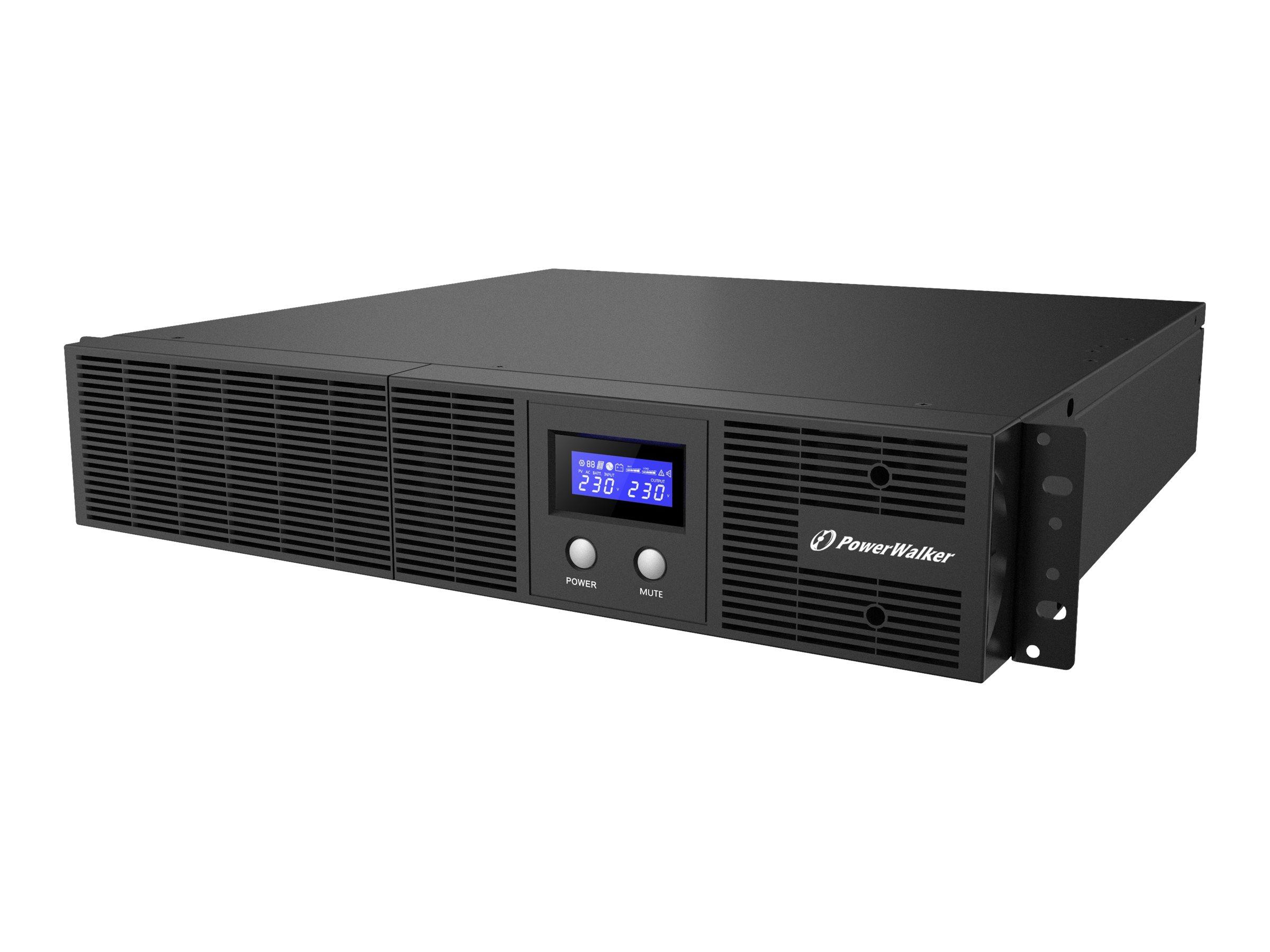 PowerWalker VI 2200 RLE - USV (Rack - einbaufähig) - Wechselstrom 230 V - 1320 Watt - 2200 VA 9 Ah