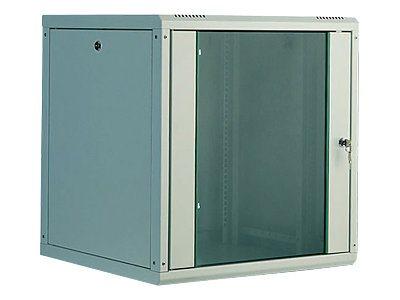 DIGITUS SoHoline DN-19 09U-6/6 - Gehäuse - geeignet für Wandmontage - Grau, RAL 7035 - 9U - 48.3 cm (19
