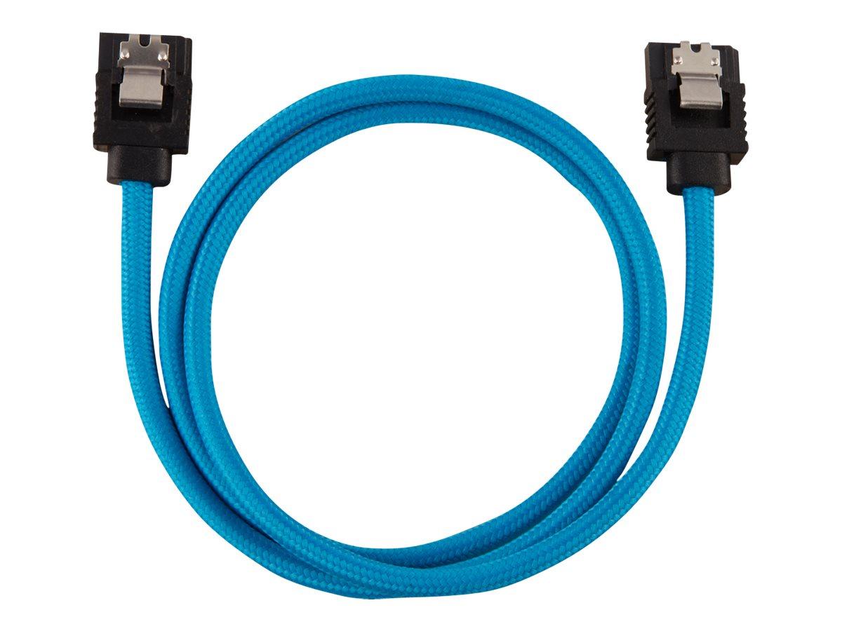 CORSAIR Premium Sleeved - SATA-Kabel - Serial ATA 150/300/600 - SATA (M) gerade, verriegelt bis SATA (M) gerade, verriegelt - 60