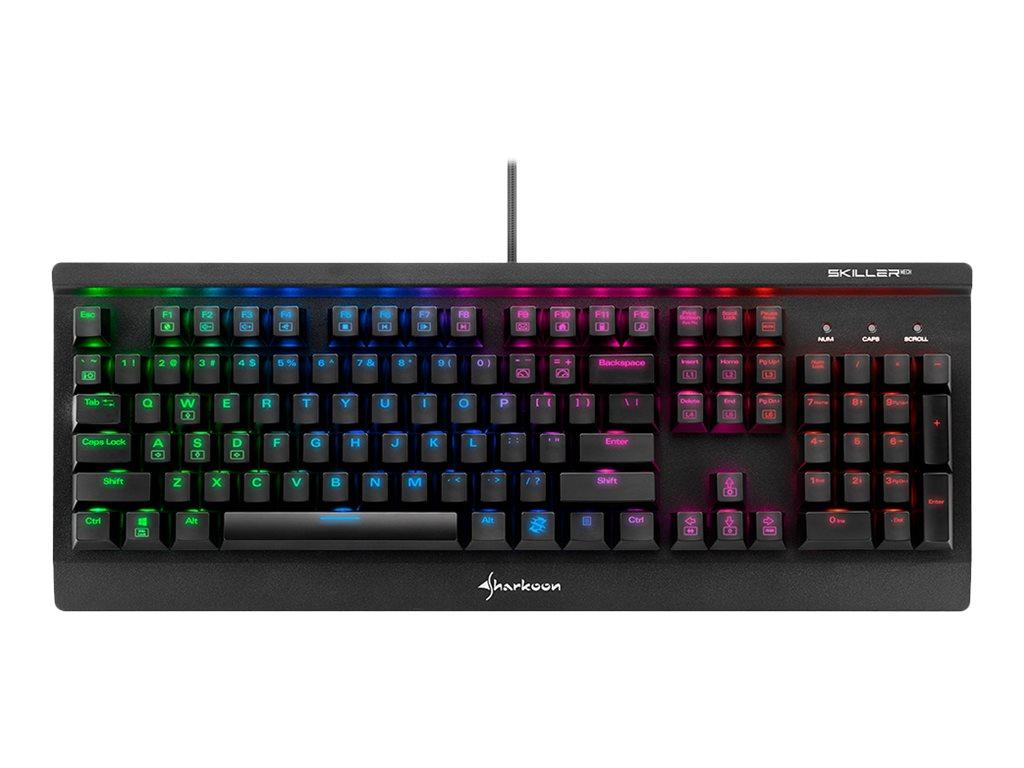 Sharkoon Skiller MECH SGK3 - Tastatur - backlit - USB - Deutsch - Tastenschalter: Kailh Blue