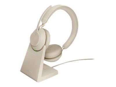 Jabra Evolve2 65 UC Stereo - Headset - On-Ear - Bluetooth - kabellos - USB-C