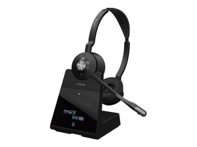 Jabra Engage 75 Stereo - Headset - On-Ear - DECT / Bluetooth - kabellos - NFC