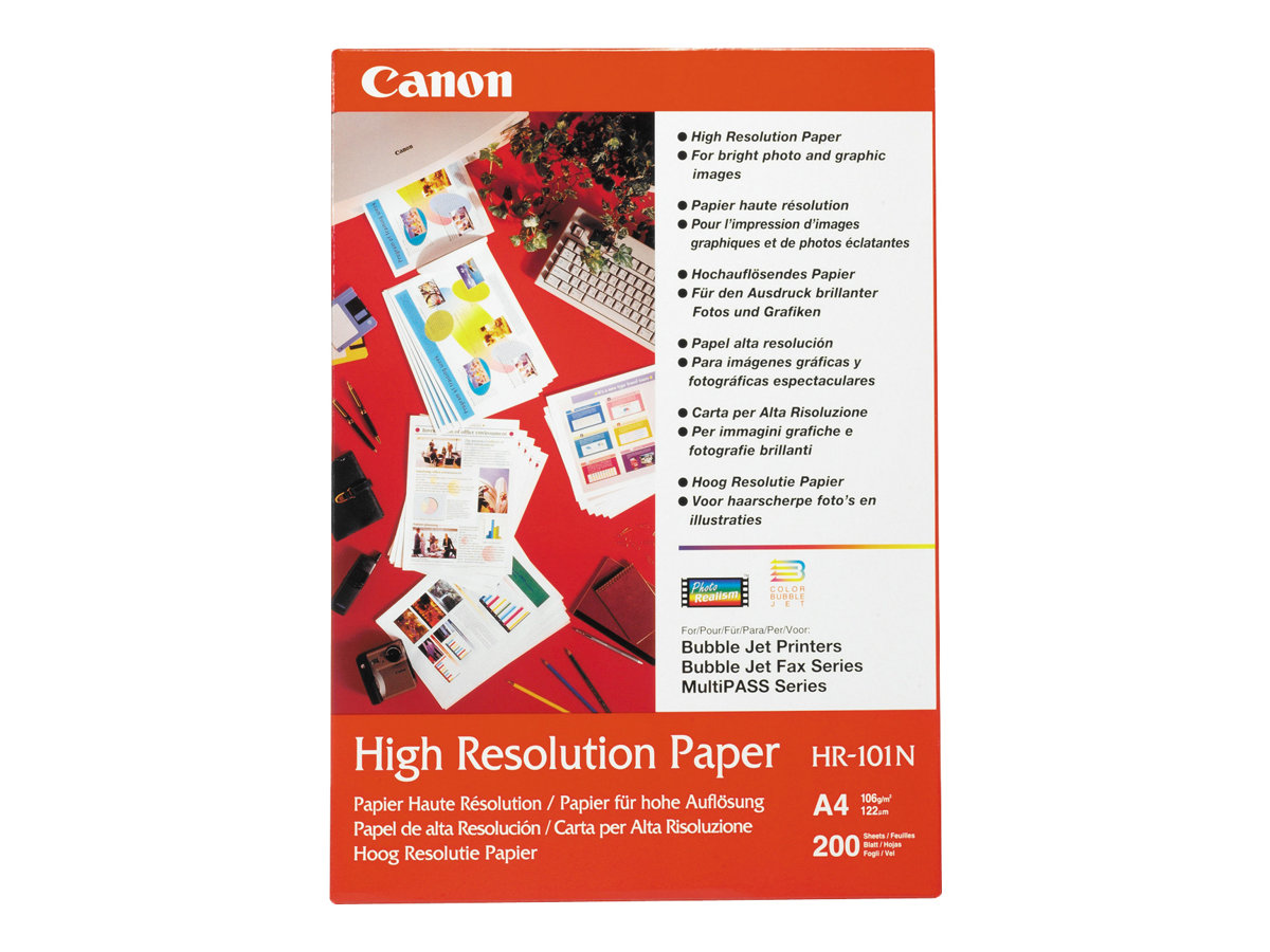 Canon HR-101 - A4 (210 x 297 mm) 50 Blatt Normalpapier - für PIXMA iP1000, IP4000, iP5000, iP6000, iP6210, iP6310, iP8500, MG255