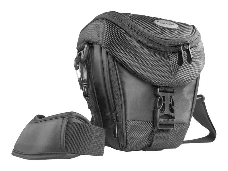 mantona Premium Colttasche - Tragetasche für Digitalkamera mit Objektiven - Schwarz