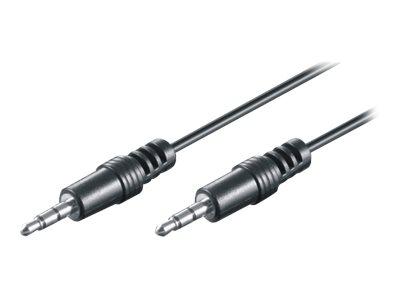 M-CAB HQ - Audiokabel - Stereo Mini-Klinkenstecker (M) bis Stereo Mini-Klinkenstecker (M) - 1.5 m - Schwarz