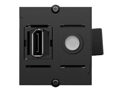 Bachmann Custom module - Modulares Faceplate-Snap-In - DisplayPort - Anthracite Black