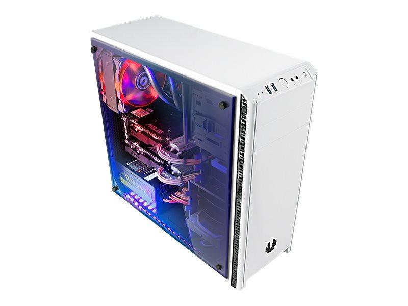 BitFenix Nova TG - Tower - ATX (ATX12V / EPS12V) - weiss - USB/Audio