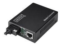 DIGITUS Professional DN-82123 - Medienkonverter - GigE - 10Base-T, 1000Base-LX, 100Base-TX, 1000Base-T - RJ-45 / SC Single-Modus