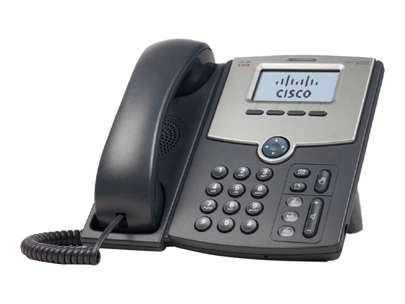 Cisco Small Business SPA 502G - VoIP-Telefon - dreiweg Anruffunktion - SIP, SIP v2, SPCP - Einzelleitung - Silber, Dunkelgrau