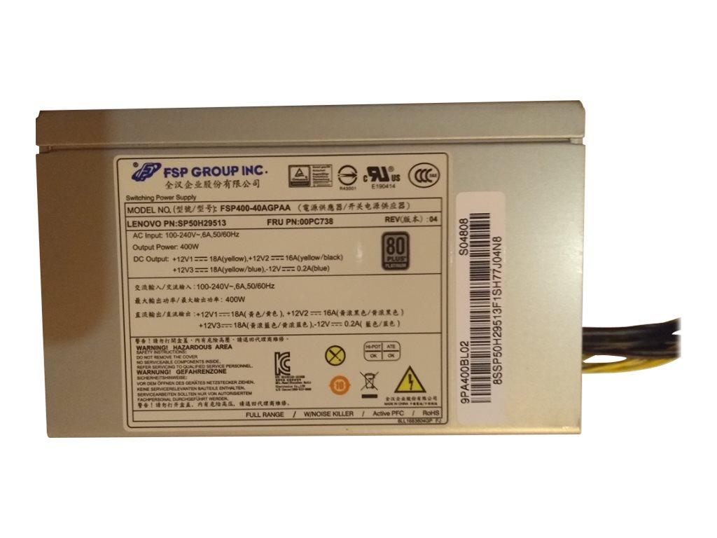 FSP 400-40AGPAA - Stromversorgung (intern) - 80 PLUS Platinum - Wechselstrom 100-240 V - 400 Watt - aktive PFC