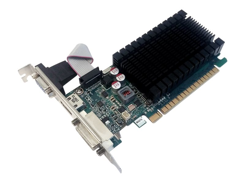 PNY GeForce GT 710 - Grafikkarten - GF GT 710 - 2 GB DDR3 - PCIe 2.0 x8 Low-Profile - DVI, D-Sub, HDMI
