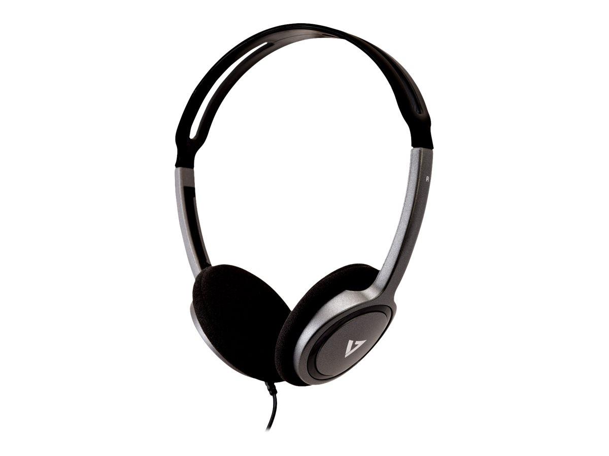 V7 HA310-2EP - Kopfhörer - On-Ear - kabelgebunden - 3,5 mm Stecker - Schwarz