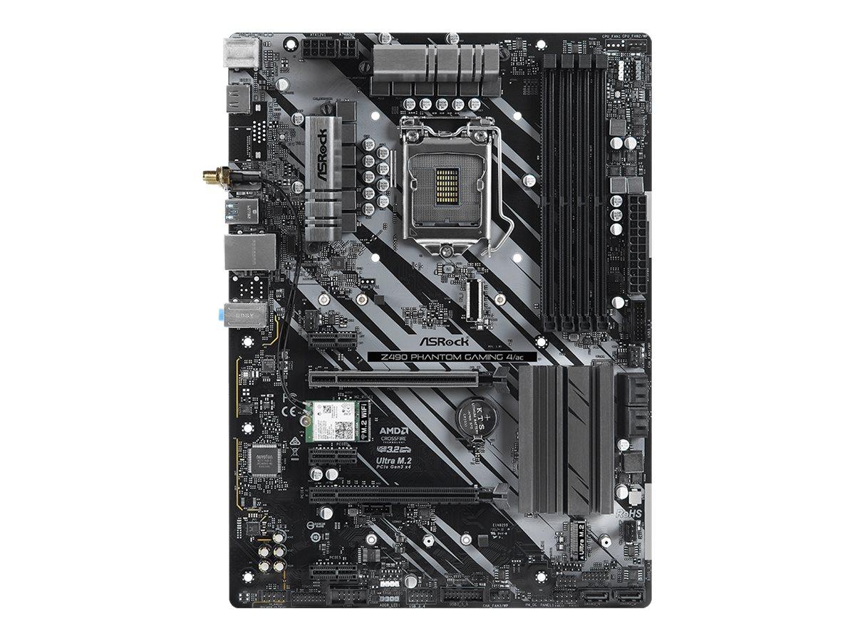 ASRock Z490 Phantom Gaming 4/ac - Motherboard - ATX - LGA1200-Sockel - Z490 - USB-C Gen2, USB 3.2 Gen 1, USB 3.2 Gen 2