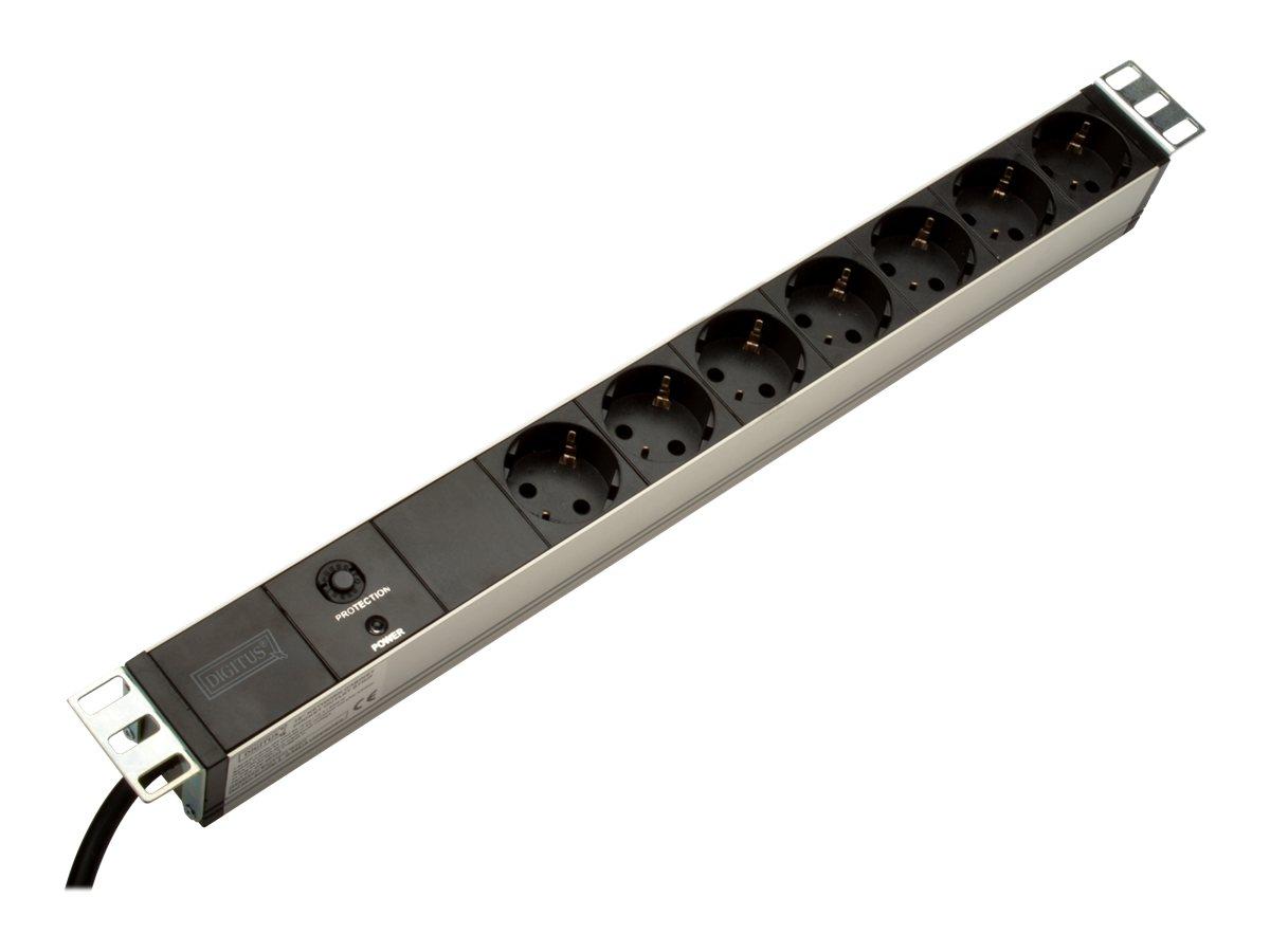 DIGITUS DN-95403 - Verlängerungsschnur (Rack - einbaufähig) - Wechselstrom 250 V - Eingabe, Eingang Stromversorgung - Ausgangsan
