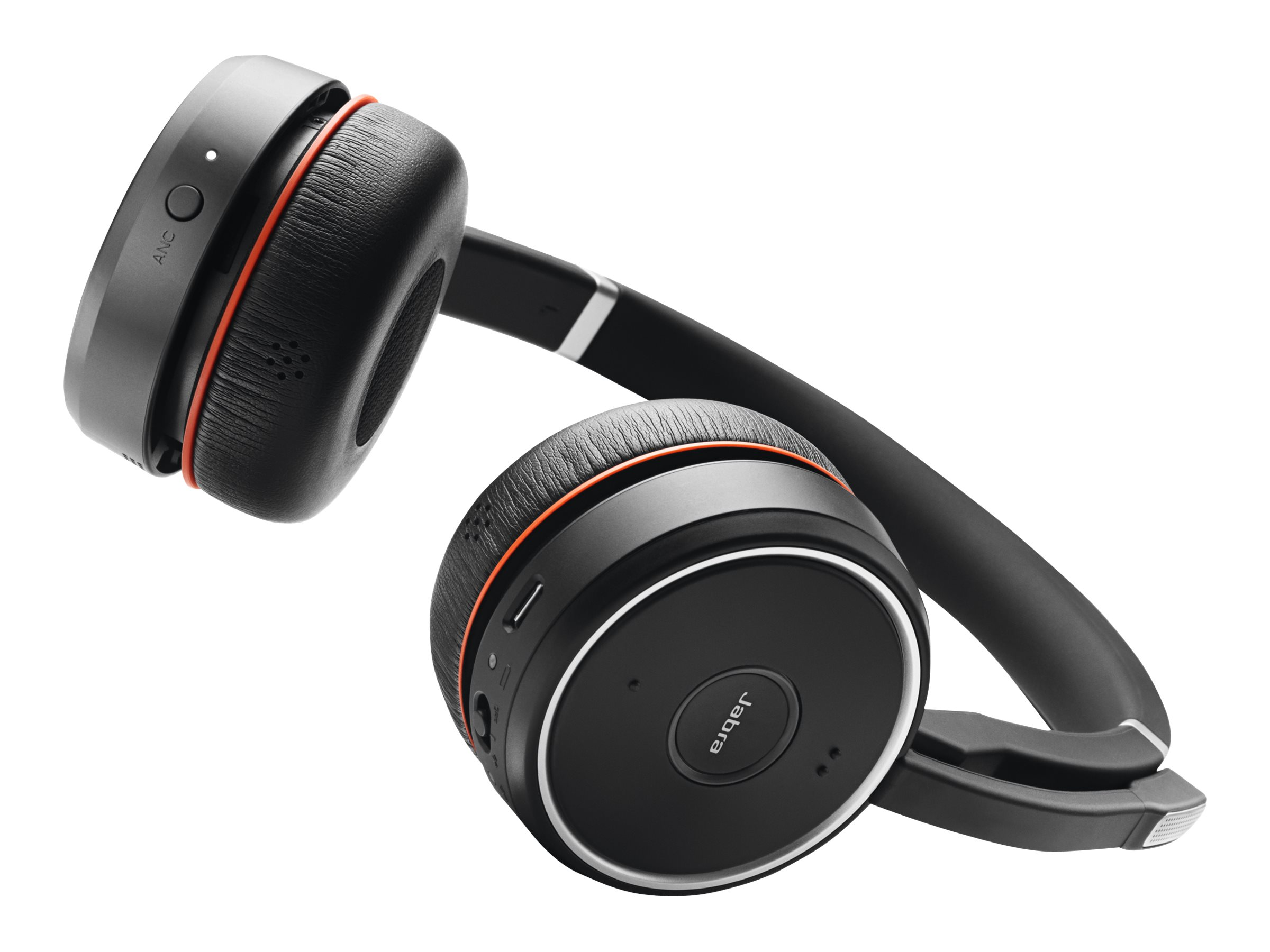 Jabra Evolve 75 UC Stereo - Headset - On-Ear - Bluetooth - kabellos - aktive Rauschunterdrückung