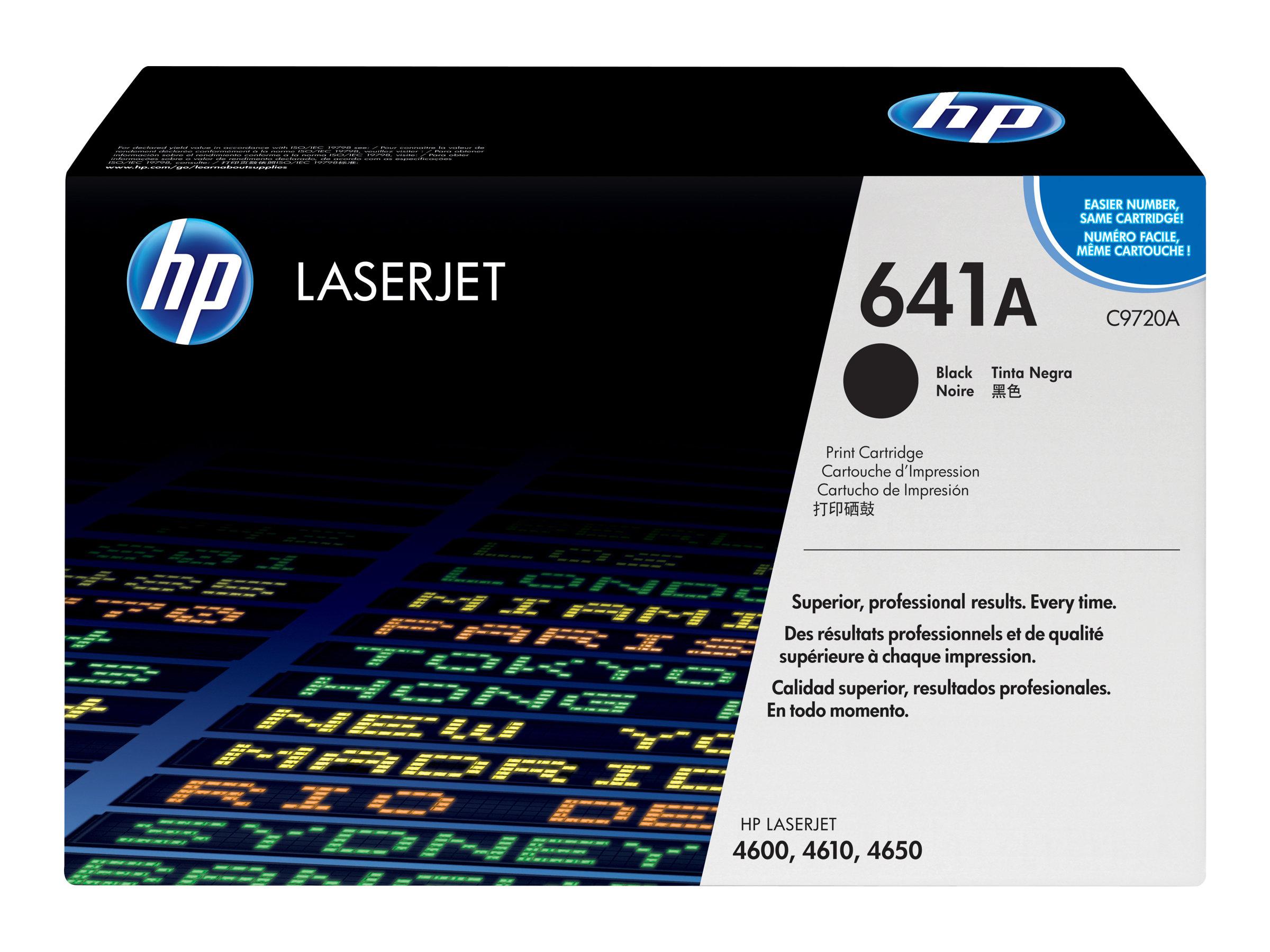 HP 641A - Schwarz - Original - LaserJet - Tonerpatrone (C9720A) - für Color LaserJet 4600, 4610, 4650