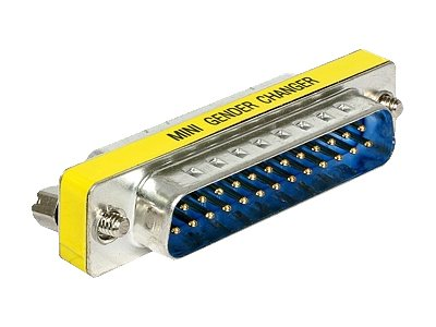 DeLOCK Adapter Sub-D 25 pin male > female port saver - Serieller Gender Changer - DB-25 (W) bis DB-25 (M)