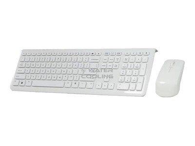 Perixx PERIDUO-703 - Tastatur-und-Maus-Set - kabellos - 2.4 GHz - weiss
