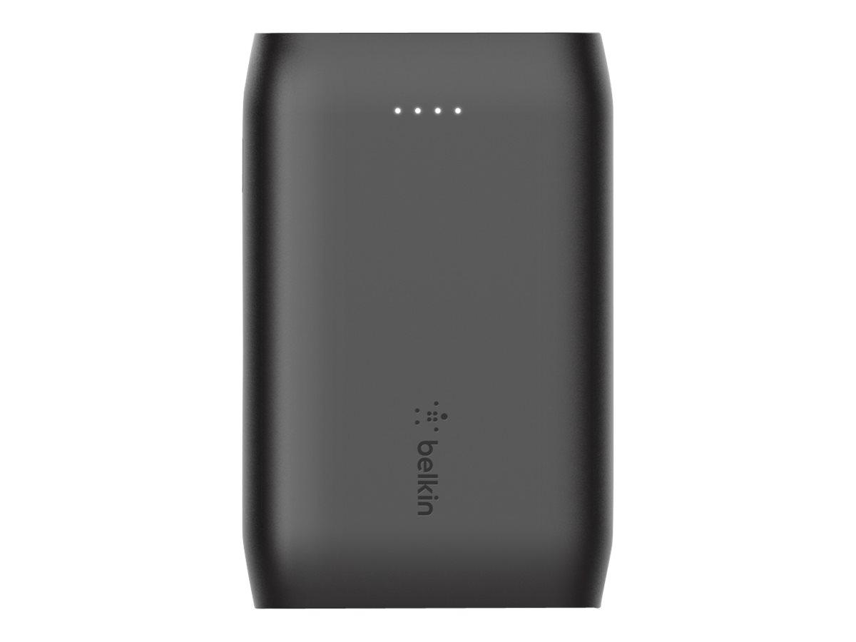 Belkin BOOST CHARGE - Powerbank - 10000 mAh - 15 Watt - 3 Ausgabeanschlussstellen (2 x USB, USB-C) - auf Kabel: USB, USB-C