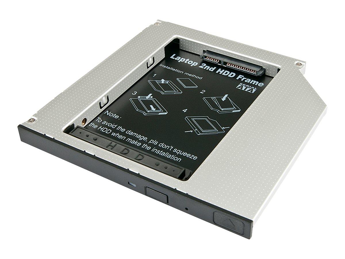 Lindy Ultra Slim SATA III HDD Caddy - Laufwerksschachtadapter - 5,25 Zoll Slime Line auf 2,5 Zoll X 1/8H (13,3 cm Slim Line auf