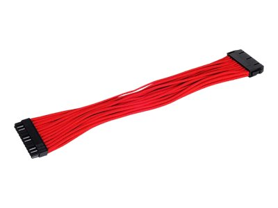 SilverStone PP07-MBR - Spannungsversorgungs-Verlängerungskabel - ATX, 24-polig (W) bis ATX, 24-polig (M) - 30 cm - Rot