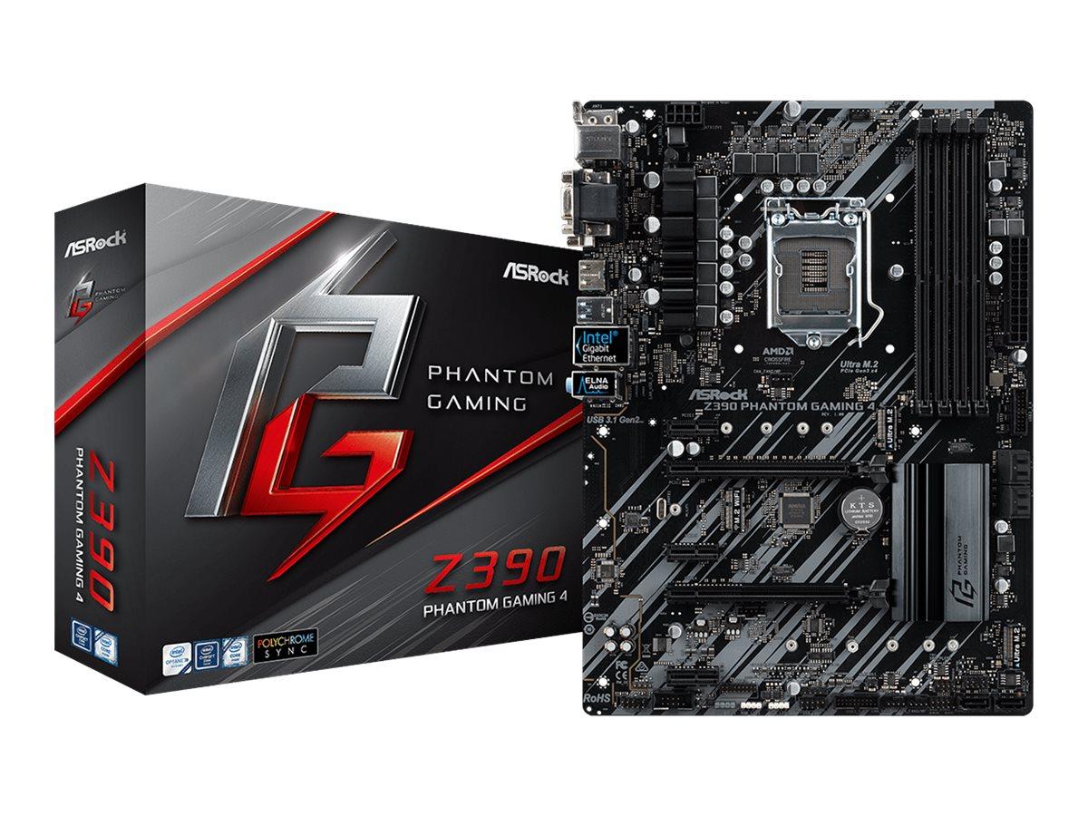 ASRock Z390 Phantom Gaming 4 - Motherboard - ATX - LGA1151 Socket - Z390 - USB 3.1 Gen 1, USB-C Gen2, USB 3.1 Gen 2